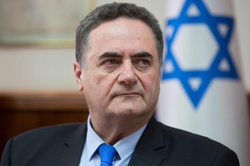 Pełniący obowiązki szefa izraelskiego MSZ Israel Katz /Sebastian Scheiner /AFP