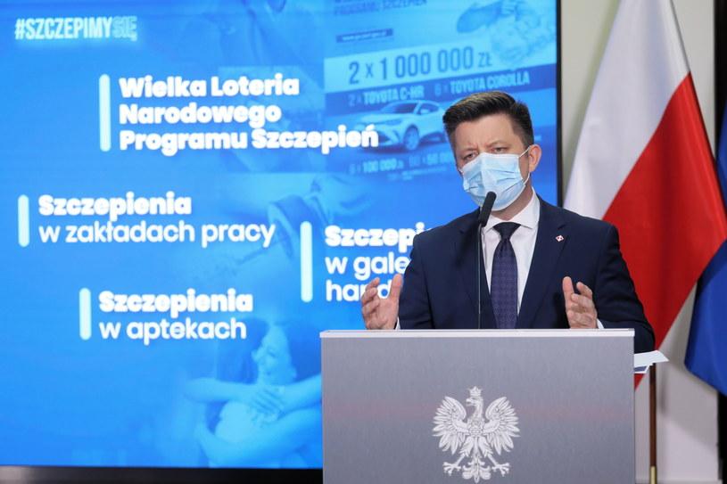 Pełnomocnik rządu ds. narodowego programu szczepień Michał Dworczyk / Paweł Supernak   /PAP