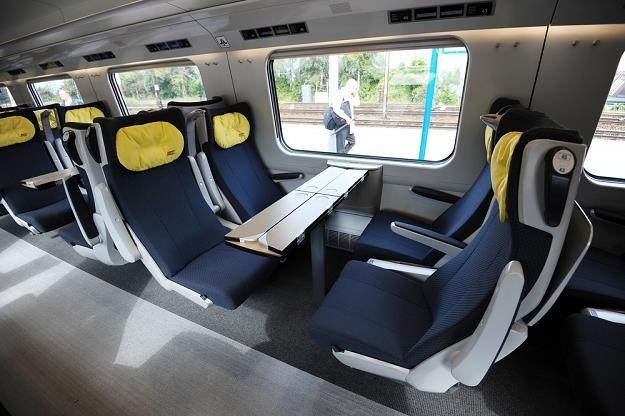 Pendolino - wnętrze pociągu. Fot. PIOTR MATUSEWICZ /Agencja SE/East News