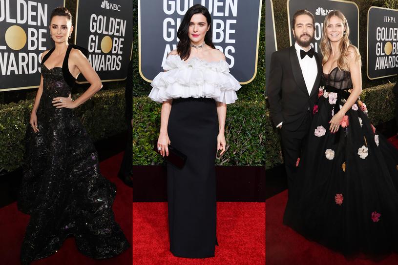 Penelope Cruz (Ralph & Russo), Rachel Weisz (Celine by Hedi Slimane), Heidi Klum (Monique Lhuillier) i Tom Kaulitz /Getty Images