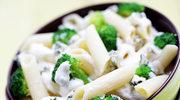 Penne w sosie śmietanowo-brokułowym