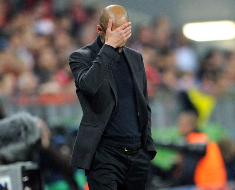 Pep Guardiola chciał zapaść się pod ziemię /AFP