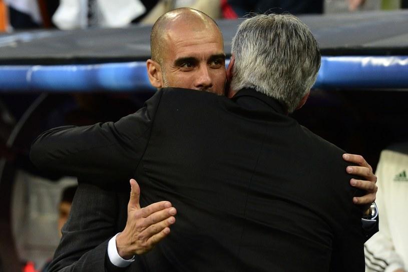Pep Guardiola i Carlo Ancelotii przed rywalizacją Bayernu Monachium z Realem Madryt /AFP