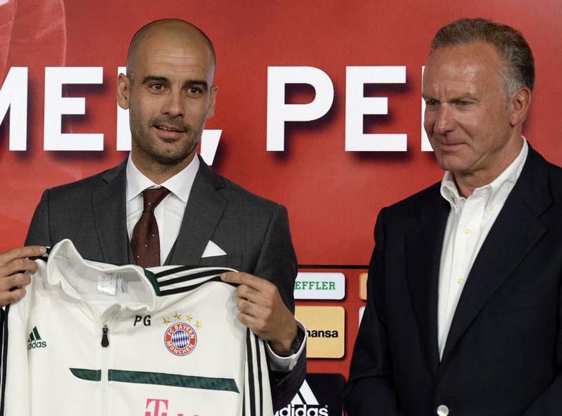 Pep Guardiola i Karl-Heinz Rummenigge /AFP