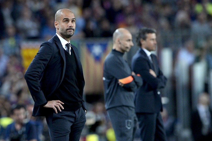 Pep Guardiola podczas meczu Barcelona - Bayern /AFP