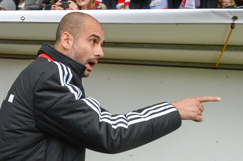 Pep Guardiola podczas meczu sparingowego z Fanclub Wildenau /AFP