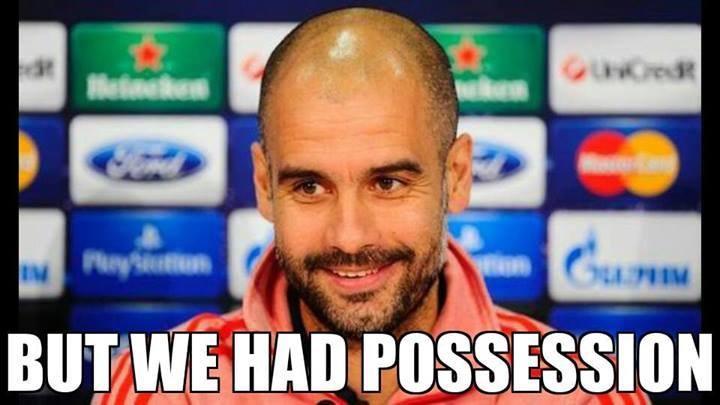 Pep Guardiola tak naprawdę ma smutną minę. /INTERIA.PL