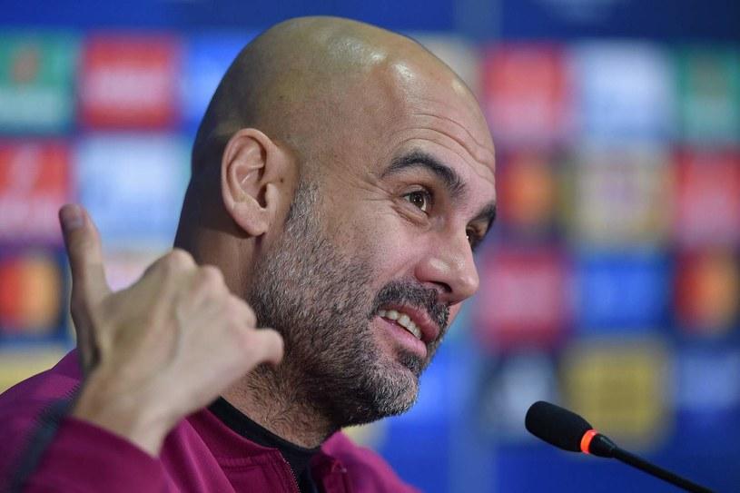 Pep Guardiola, trener Manchesteru City /AFP