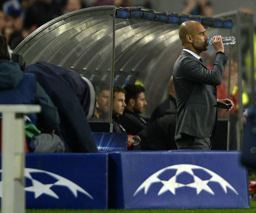 Pep Guardiola w trakcie meczu, jak i po spotkaniu nie mógł być zadowolony /AFP