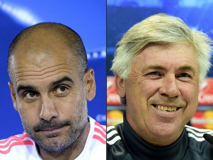 Pep Guardiola (z lewej) i Carlo Ancelotti /AFP