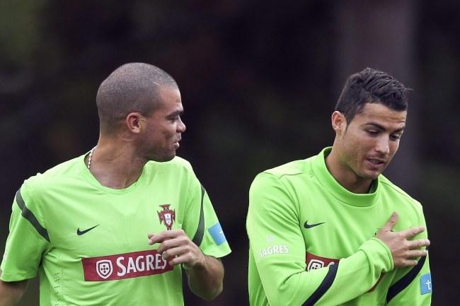 Pepe i Cristiano Ronaldo /PAP/EPA