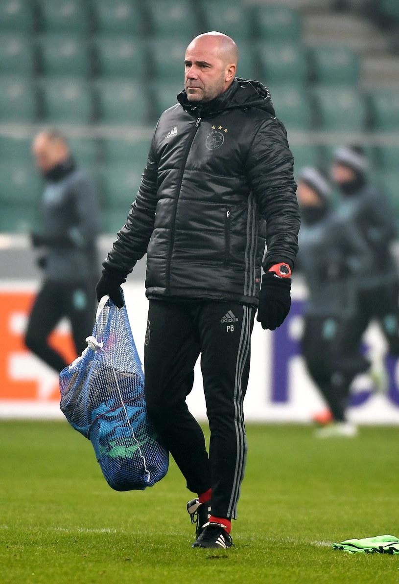 Peter Bosz, trener Ajaksu /Bartłomiej Zborowski /PAP