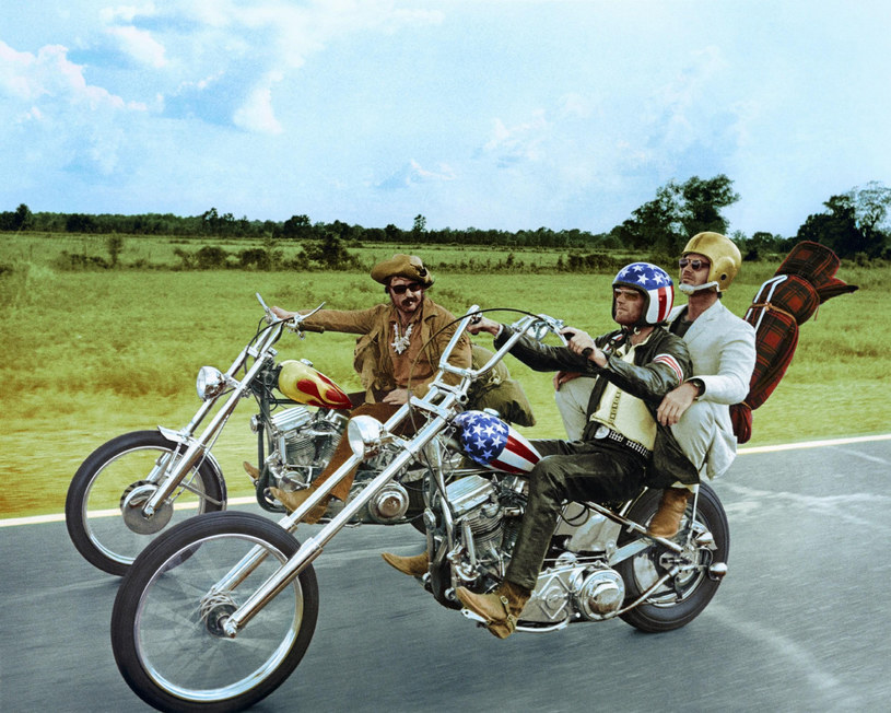 """Peter Fonda, Jack Nicholson i Dennis Hopper w filmie """"Easy Rider"""" /Silver Screen Collection /Getty Images"""