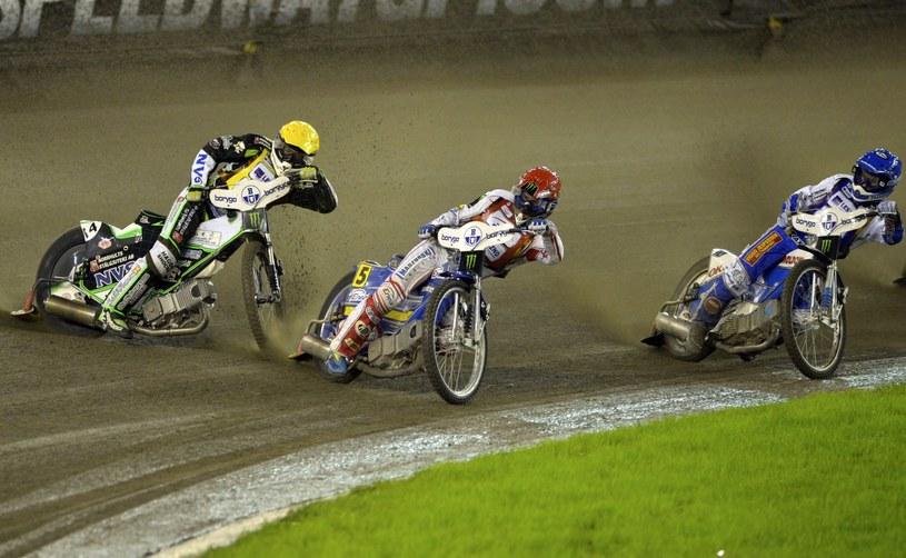 Peter Ljung, Tomasz Gollob i Nicki Pedersen (z prawej) /Tytus Żmijewski /PAP