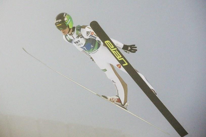 Peter Prevc na skoczni w Oslo /PAP/EPA