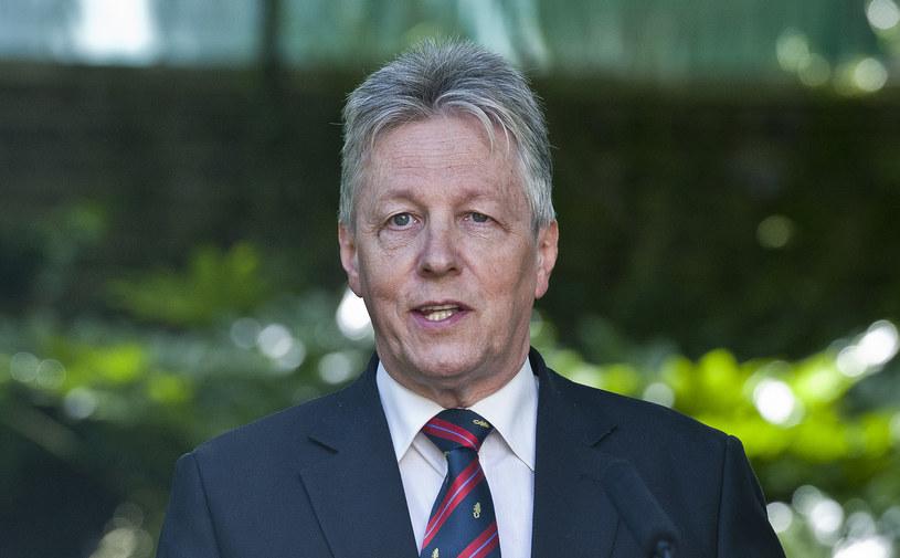 Peter Robinson - premier rządu w Belfaście i lider Partii Demokratycznych Unionistów. /AFP