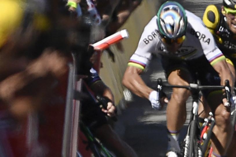 Peter Sagan został zdyskwalifikowany za spowodowanie upadku Marka Cavendisha /AFP
