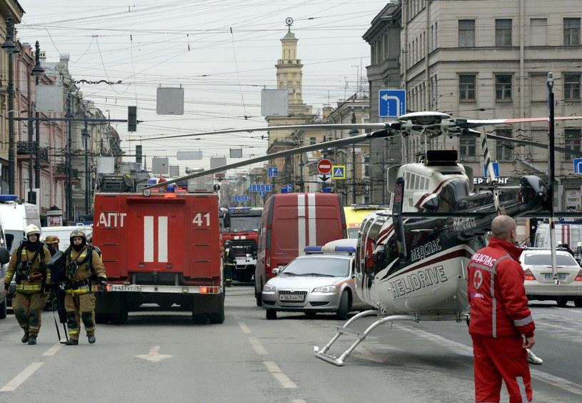 Petersburg po zamachu terorystycznym /AFP