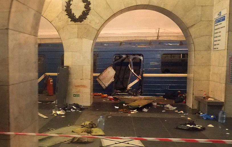 Petersburg: To tu doszło do tragedii /AFP