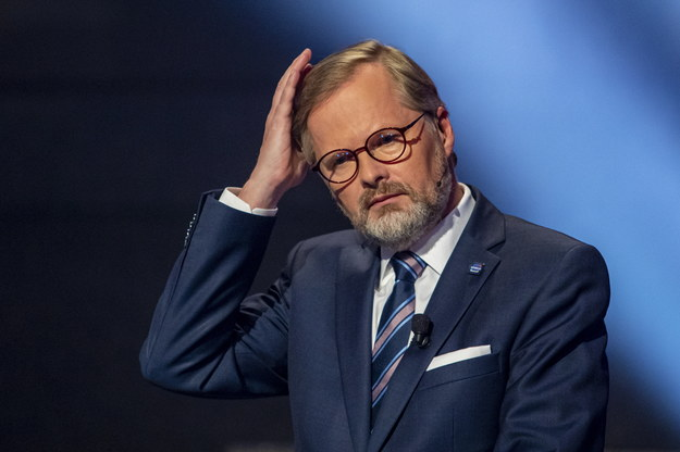 Petr Fiala,  liderem centroprawicowej koalicji SPOLU (Wspólnie) /PAP/EPA/MARTIN DIVISEK /PAP/EPA