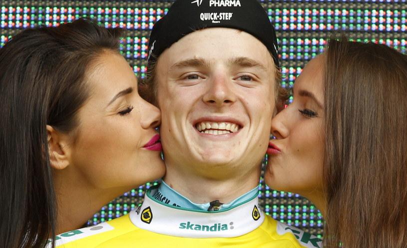 Petr Vakocz - lider klasyfikacji generalnej Tour de Pologne /Fot. Andrzej Grygiel /PAP
