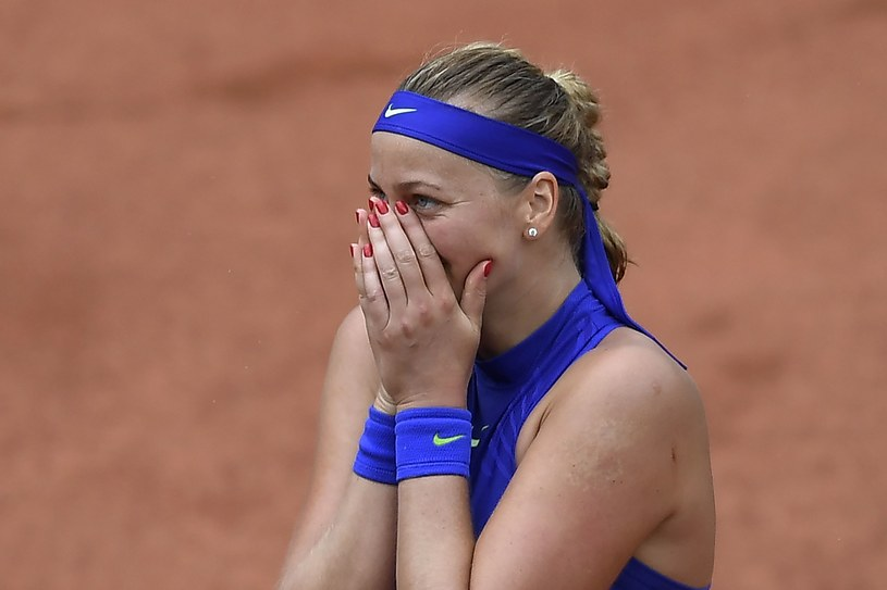 Petra Kvitova cała w skowronkach, po powrocie na korty. /AFP