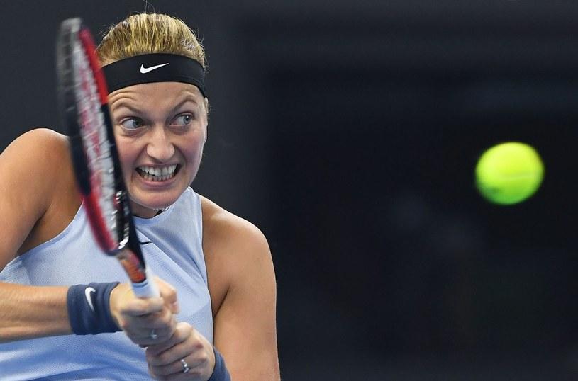 Petra Kvitova podczas turnieju w Sankt Petersburgu /AFP