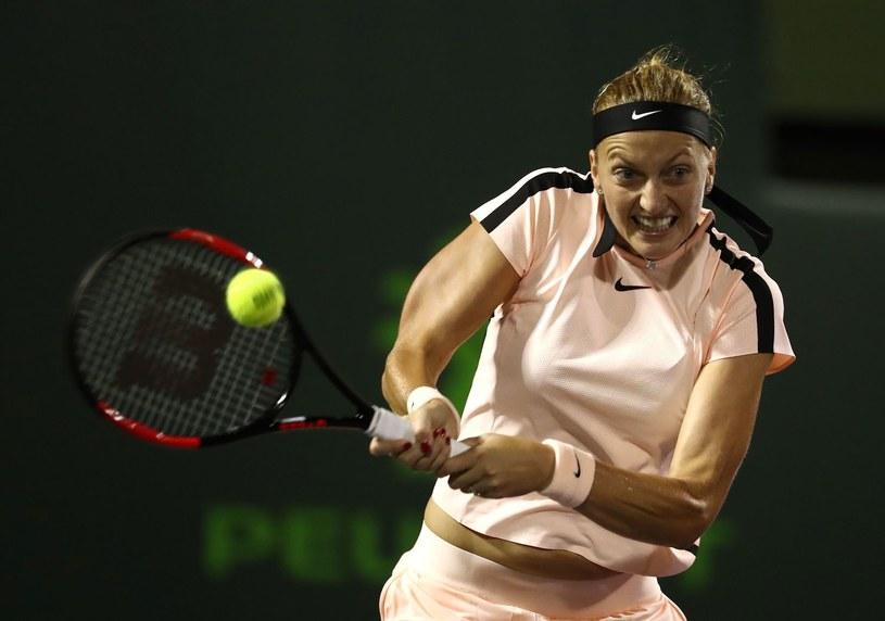 Petra Kvitova pożegnała się z turniejem /AFP