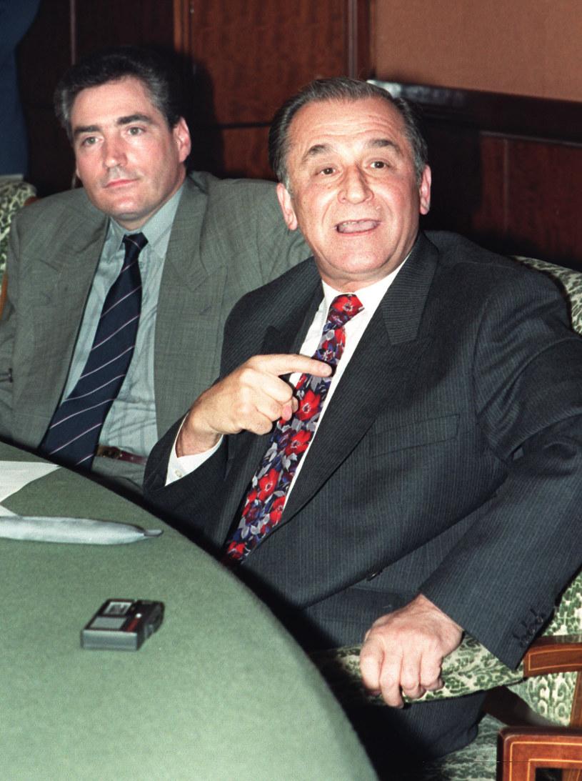 Petre Roman i Ion Iliescu w 1990 roku /AFP