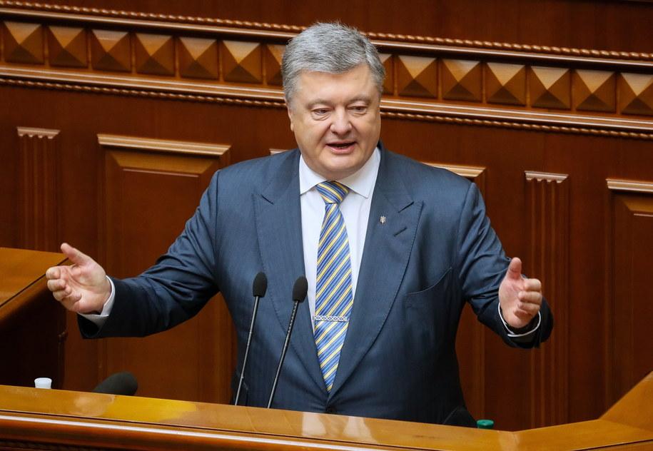 Petro Poroszenko będzie się ubiegał o reelekcję /SERGEY DOLZHENKO /PAP/EPA
