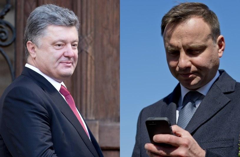 Petro Poroszenko i Andrzej Duda /ANDRZEJ IWANCZU/ANDRZEJ TRACZ /Reporter