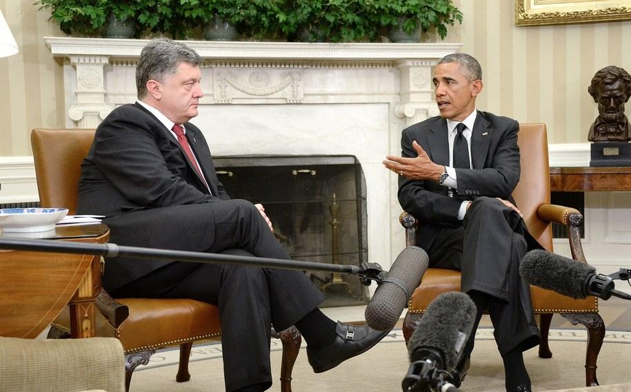 Petro Poroszenko i Barack Obama //Olivier Douliery / POOL /PAP/EPA