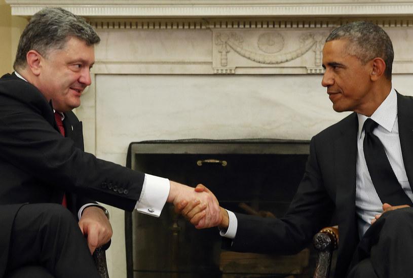Petro Poroszenko i Barack Obama /Getty Images