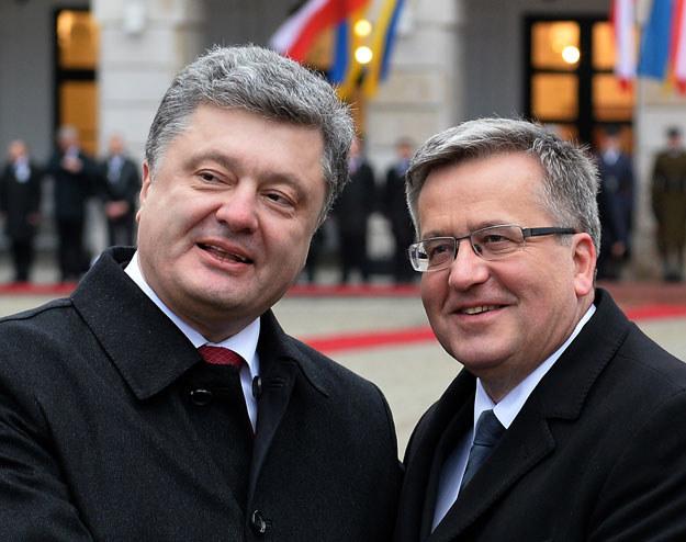 Petro Poroszenko i Bronisław Komorowski rozmawiali telefonicznie /AFP