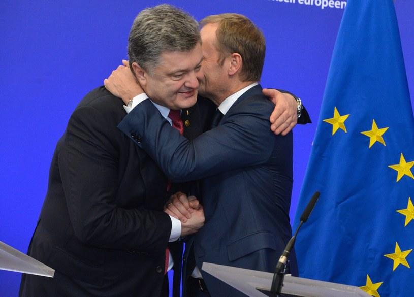 Petro Poroszenko i Donald Tusk /PAP/EPA