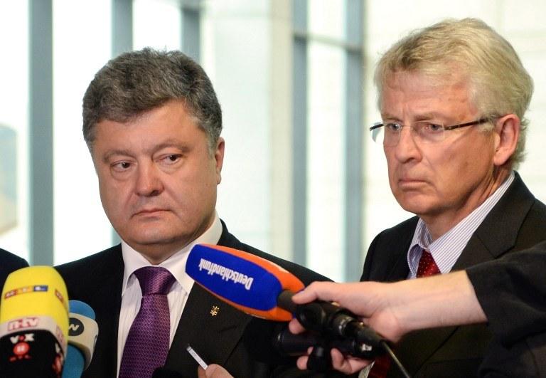 Petro Poroszenko i Karl-Georg Wellmann /AFP
