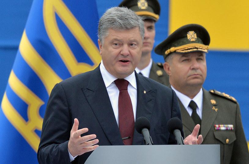 """Petro Poroszenko: """"Rosyjska agresja całkowicie zniszczyła powojenny globalny system bezpieczeństwa"""" /AFP"""