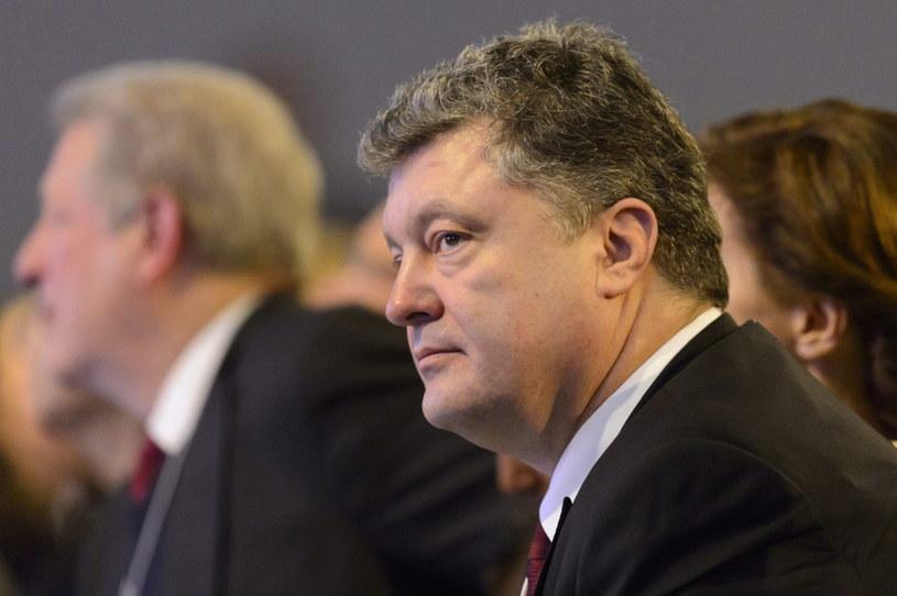 Petro Poroszenko w Davos /PAP/EPA