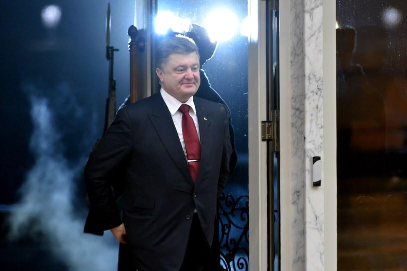 Petro Poroszenko w Mińsku /AFP