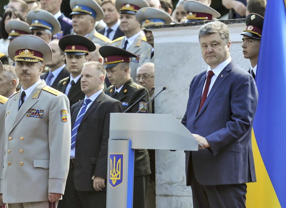 Petro Poroszenko //MYKOLA LAZARENKO/PRESIDENTIAL PRESS SERVICE/POOL  /PAP/EPA