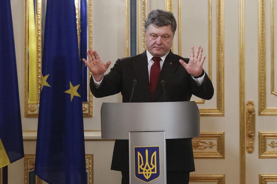 Petro Poroszenko //ROMAN PILIPEY /PAP/EPA