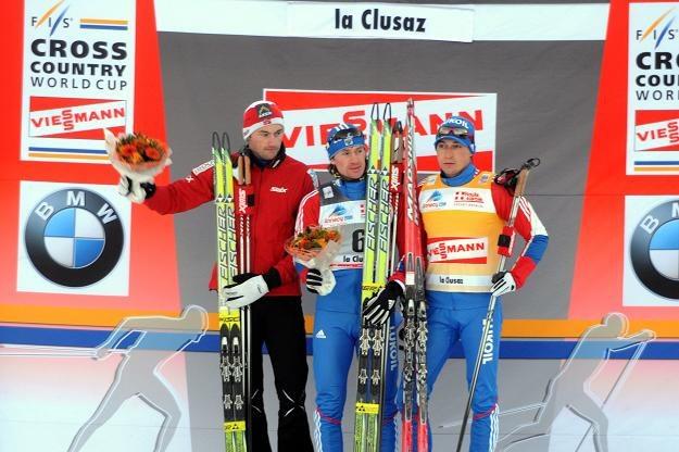 Petter Northug (z lewej) /AFP