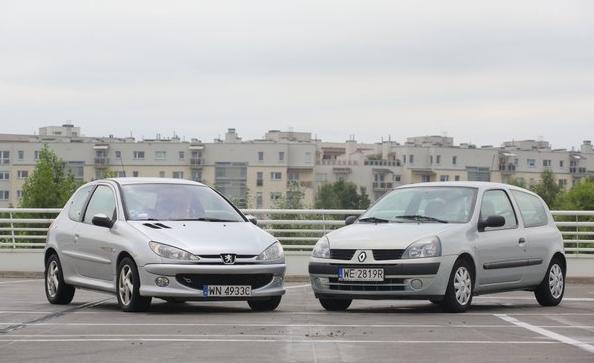 Peugeot 206 i Renault Clio /Motor