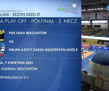 PGE Skra Bełchatów – Grupa Azoty ZAKSA Kędzierzyn-Koźle 3:1. Skrót meczu (POLSAT SPORT). Wideo