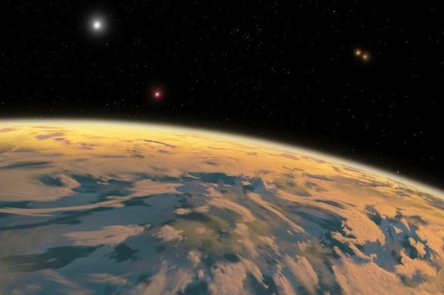 PH1 - pierwsza egzoplaneta z czterema słońcami /materiały prasowe