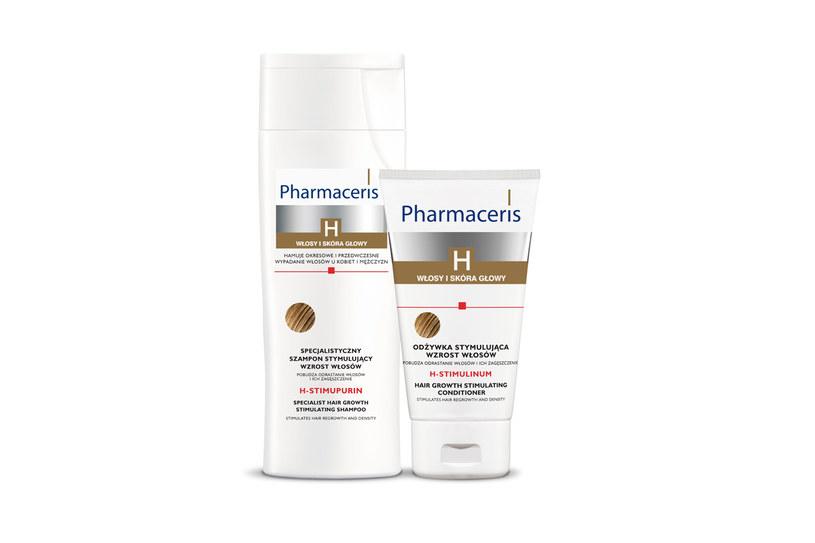 Pharmaceris H. Odżywka i szampon stymulujący wzrost włosów /Styl.pl/materiały prasowe