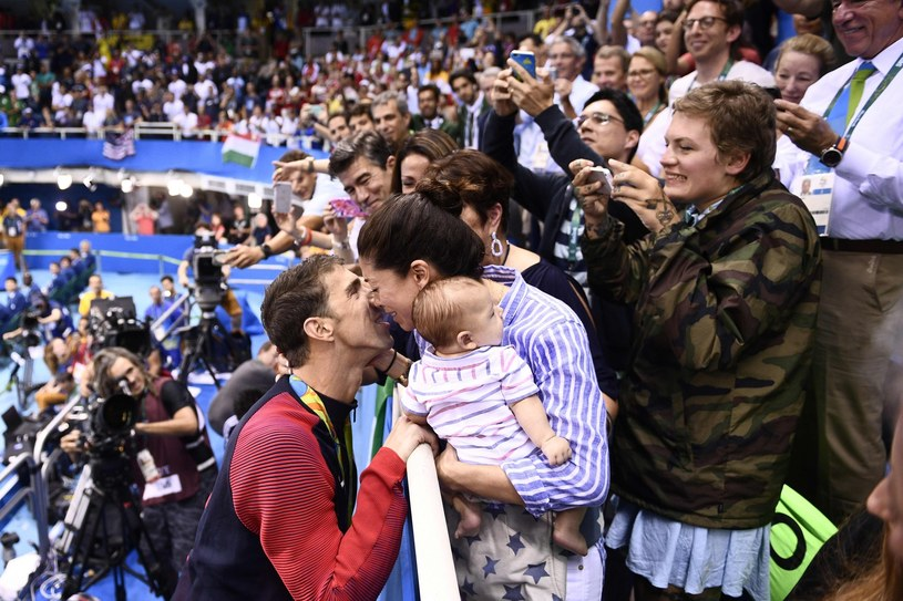 Phelps z rodziną /MARTIN BUREAU /East News