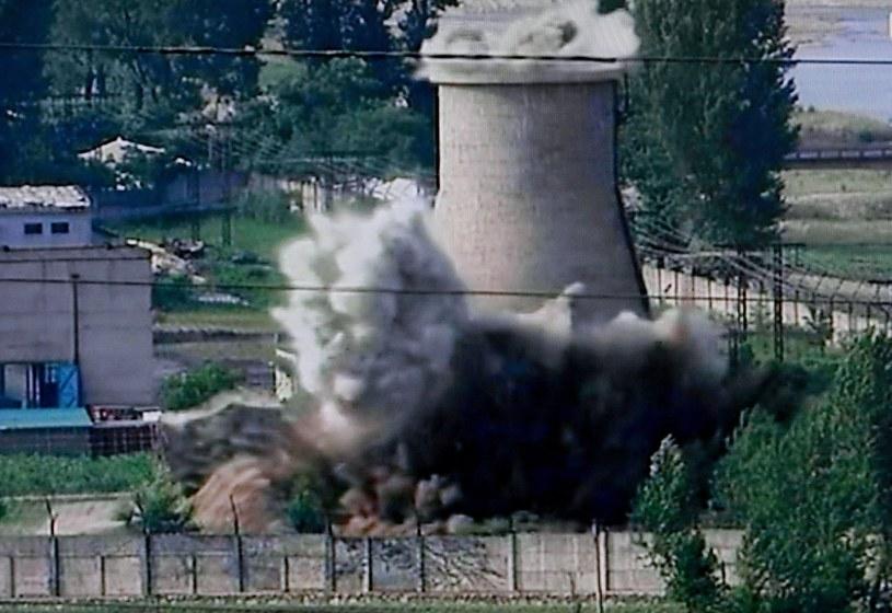 Phenian chce ponownie uruchomić reaktor atomowy w Jongbion (zdjęcie z 2008 roku) /PAP/EPA