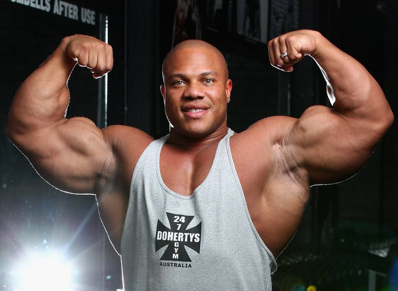 Phil Heath - żywa legenda kulturystyki. Trzykrotny zdobywca tytułu Mr. Olympia /Getty Images/Flash Press Media