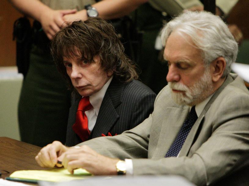 Phil Spector w trakcie procesu w 2009 roku /Pool /Getty Images